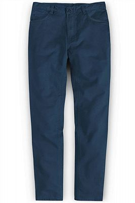 New Fashion Casual Business Zipper Fly Men Pants_1