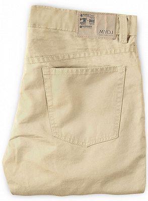 High Quality Fashion Slim Fit Clothes Men Solid Color Pants_2