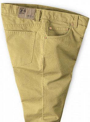 Gold Mens Solid Color Slim Fit Male Social Business Casual Skinny_3