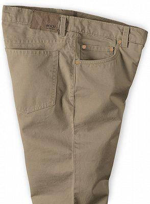 New Mens Slim Fashion Solid Color Business Casual Suit Pants_3