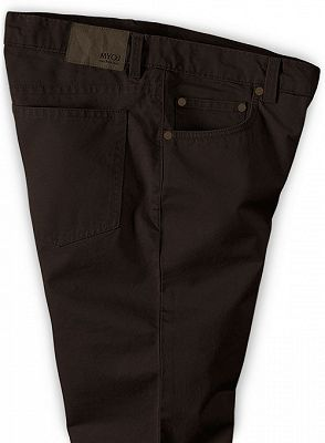 Dark Brown Slim Fit Thin Casual Business Men Formal Suit Pants_3
