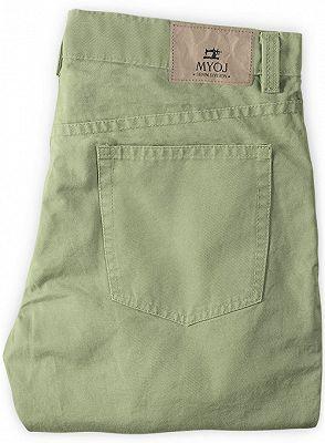 New Men Casual Pants Cotton Business Leisure Pants_2