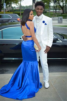 Simple White Three-Piece Wedding Groom Suit | Shawl Lapel Prom Outfits_1