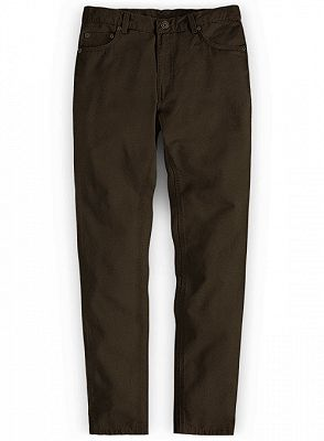 Formal Autumn Cotton Straight Solid Long Men Pants_1