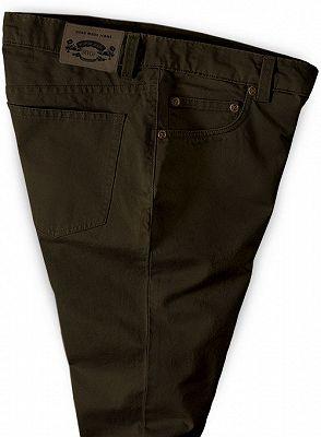 New Fashion Dark Brown Slim Straight Men Casual Pants_3