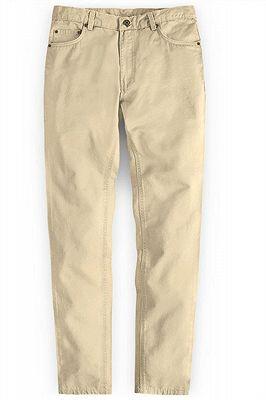 High Quality Fashion Slim Fit Clothes Men Solid Color Pants_1