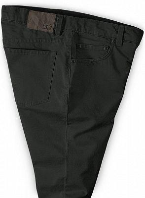 Dark Gray Slim Fit Casual Solid Business Work Mens Pants_3