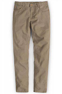 New Mens Slim Fashion Solid Color Business Casual Suit Pants_1