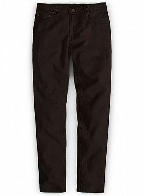 Dark Brown Slim Fit Thin Casual Business Men Formal Suit Pants_1