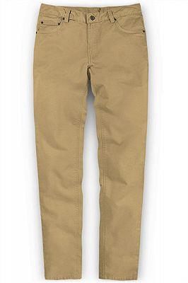 Solid Color Fashion Men Pants Casual Cotton Long Pants_1