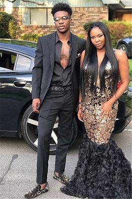 Handsome Black Two Piece Prom Suits | Slim Fit Men's Suit_1