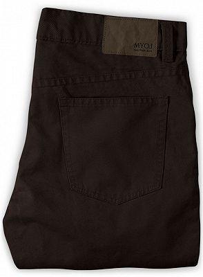 Dark Brown Slim Fit Thin Casual Business Men Formal Suit Pants_2
