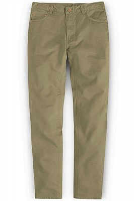 Slim Fit Jeans Cotton Custom Made Pants with Zipper Fly_1