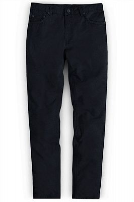 Simple Black New Fashion Jeans Business Casual Stretch Slim Pants_1