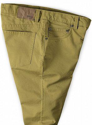 Vintage Formal Business Zipper Fly Pants for Men_3