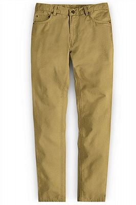Gold Autumn Spring Man Pants Long Straight Loose Plus Size Pant_1