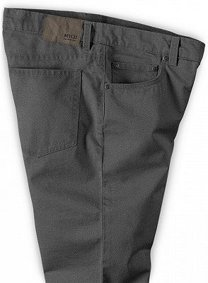 Braydon Grey Zipper Fly Stylish Business Dress Pants_3