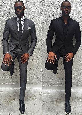 New Arrival Dark Gray Slim Fit Men Suit | Formal Formal Bridegroom Wedding Suits_1