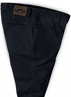 Simple Black New Fashion Jeans Business Casual Stretch Slim Pants_3