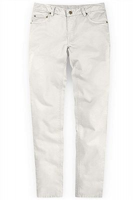 White New Arrival Casual Men Mid Waist Straight Formal Pants_1