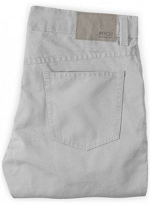 Fashion Trousers Casual Business Slim Fit Men Suit Pants_2