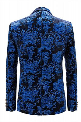 Cruz Royal Blue Notched Lapel Slim Fit Mens Blazer Jacket_2