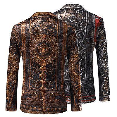 Bespoke Cute One Button Patterned Blazer Jacket Online_3