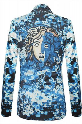 Isaac Blue Floral Slim Fit Mens Blazer Online_2