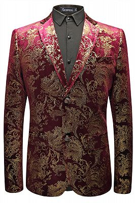 Mason Fuchsia Jacquard Notched Lapel Best Fitted Mens Blazer In Stock_1