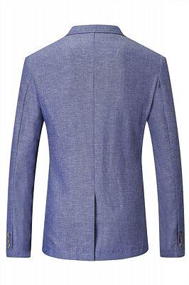 Nathaniel Cheap Blue Summer Linen Men Blazer In Stock_2