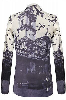 Casual Pleuche Best Fitted Pattern Fashion Blazer Jacket In Stock_2