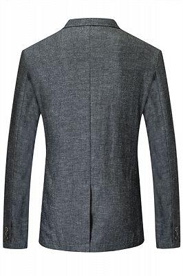 Henry Dark Gray Summer Linen Fashion Men Suits_2