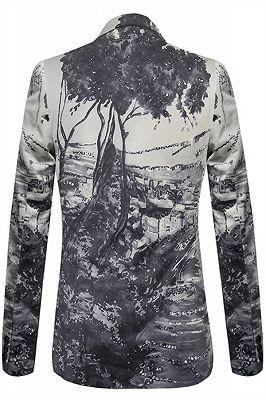 Stylish Tree Printed Slim Fit Blazer Jacket_2