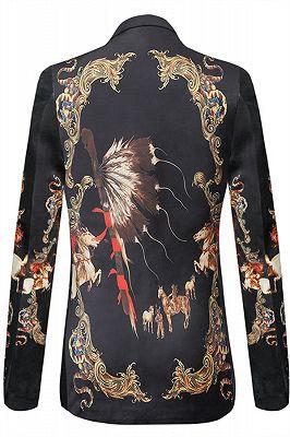 Evan Black Slim Fit Pattern Fashion Blazer Jacket for Men_2