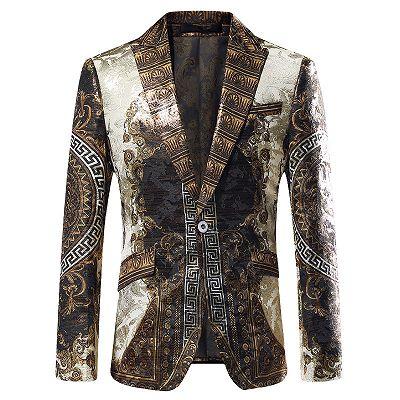 Malik Stylish Jacquard One Button Blazer for Boy_2