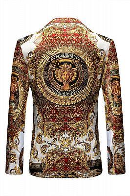 Red Peaked Lapel Floral Fashion Blazer Jacket for Boy_3