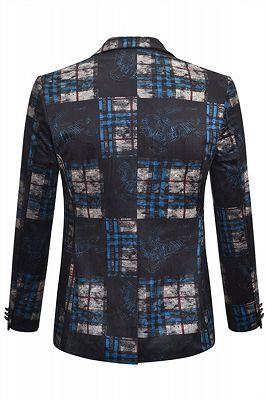 Chase black plaid Velvet Best Fitted Mens Blazer Jacket_2