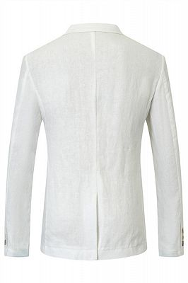 Jesus White Summer Linen Men Blazer Jacket In Stock_2