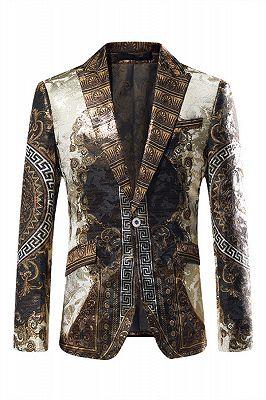 Malik Stylish Jacquard One Button Blazer for Boy_1