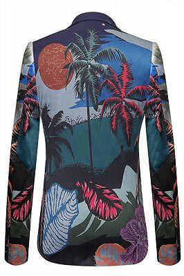 Angelo Summer Tree Printed Fashion Slim Fit Blazer Jacket_2