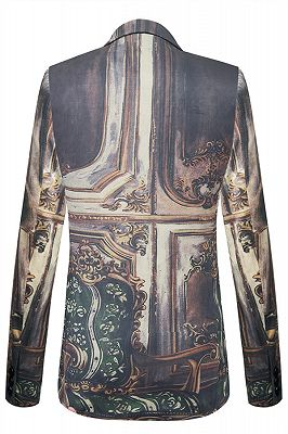 New Arrival Digitally Printed Fox Pattern Best Fitted Mens Blazer Online_2