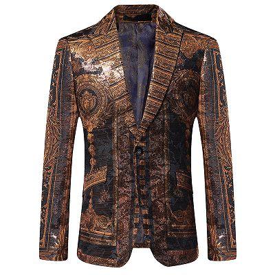 Bespoke Cute One Button Patterned Blazer Jacket Online_2