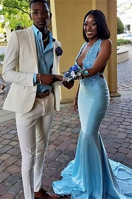 New Arrival Bespoke White Slim Fit Mens Prom Outfits Online_1
