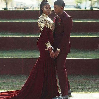 Gabriel Burgundy Slim Fit Notched Lapel Prom Outfits for Guys_2