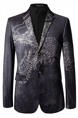 Jordan Black Animal Printed Fashion Slim Fit Men Blazer_1