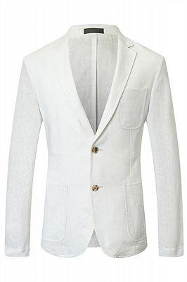 Jesus White Summer Linen Men Blazer Jacket In Stock_1