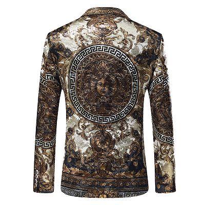 Malik Stylish Jacquard One Button Blazer for Boy_3