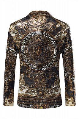 Esteban Casual Gold Patterned Slim Fit Mens Blazer Jacket Online_3