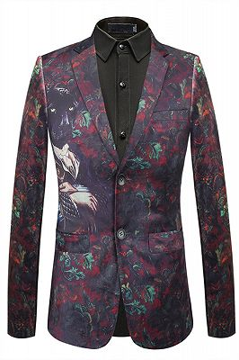 Bespoke Digital Printed Fashion Animal Pattern Blazer Jacket_1