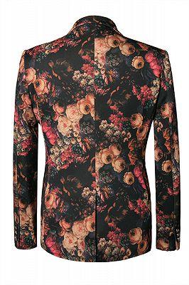 Brandon Fashion Flower Pattern Blazer Outfits In Stock_2